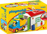 Playmobil 1.2.3 Dump Truck with Sorting Garage 70184 (for Kids 18 months and up)