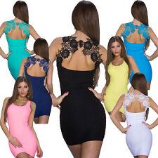 Damenkleider mit Rundhals-Ausschnitt ohne Muster