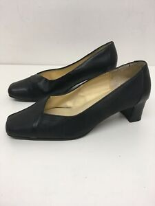 WOMENS K BY CLARKS BLACK LEATHER HIGH HEEL COURT SHOES UK 3.5 WIDER STYLING