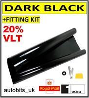 CAR WINDOW TINT FILM TINTING DARK BLACK  SMOKE 20% 76cm x 6M IN TUBE