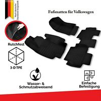 VW Allwetter TPE & Gummi Fußmatten Set 3D Automatten Mattenset 100% Passgenau