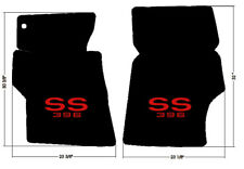 NEW! 1966-1967 Chevelle Floor Mats Black Carpet Embroidered SS 396 logo RED pair
