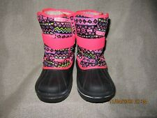 New Toddler Youth Girls Print Chalet Winter Boots Shoes 6 7 8 9 10 11 12 13 1 2