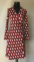 Diane von Furstenberg  Damen Wickelkleid  Kleid   gr.4 Baumwolle / Seide