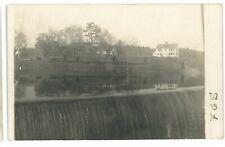 RPPC B&M Boston & Maine?? Railroad Train Dam Waterfall Real Photo Postcard