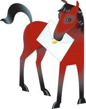 Horse 3D Special Delivery Animal Greeting Card Blank Own Message Cards