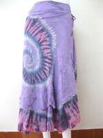 Hot Tie Dye Wrap Around Sarong Long Skirt Beach Cover Hippie Gypsy Lagenlook