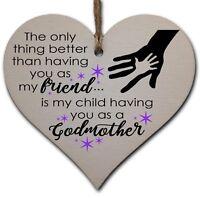 Best Friend Godmother Keepsake Heart Gift Christening Confirmation  P179