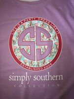 Simply Southern 'Life is a Party, Dress like it' Pink Tunic Sweatshirt Sz Large