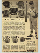 1957 PAPER AD Baseball Glove Lou Boudreau Hoot Evers Warren Spahn Wilson