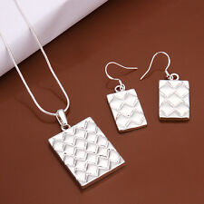 Fashion Women's Accessories 925 Silver Pineapple Necklace+Earrings Set FS497