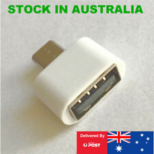 Micro USB B Male to Female USB Type A, OTG Adaptor for Android Phones in White