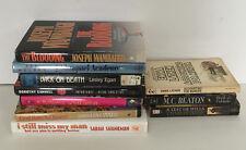 murder mystery 9 book lot M.C.Beaton Dorothy Cannell Joseph Wambaugh