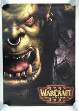 WORLD OF WARCRAFT,REIGN OF CHAOS, BLIZZARD, RARE AUTHENTIC LICENSED 2002 POSTER