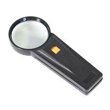 Leselupe mit LED Beleuchtung Lesehilfe Vergrößerungsglas Handlupe Lampe Licht