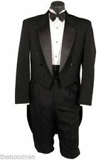 46 R Men's Black Tuxedo Tailcoat Full Dress Mardi Gras Cheap TUXXMAN Costume