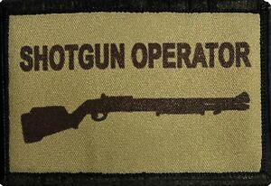 Shotgun Operator Morale Patch Tactical Military Army Hook Flag USA Badge