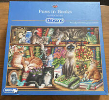 Gibsons - 1000 PIECE JIGSAW PUZZLE - Puss In Books - Complete (D2)