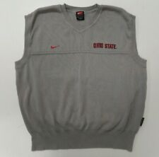 Vintage Nike Ohio State Buckeyes Mens Medium Sweater V-Neck Vest Gray