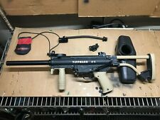 Tippmann A5 with SpecOps Longbow airthru stock Paintball Marker used working tan