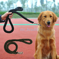 Pet Dog Nylon Braided Traction Rope Walking Lead Leash for Medium Large Dog 1Pc