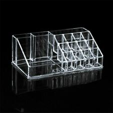 Acrylic Clear Makeup Cosmetics Organizer Grid Case Jewelry Storage Box Holder