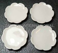 Set of 4 Dollhouse Miniature Ceramic Plates * 1.3-inch Doll Mini Food Dish Plate