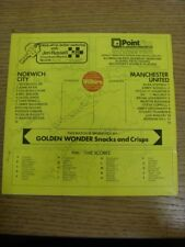 02/04/1977 Autographed Programme: Norwich City v Manchester United - Approx 12 S