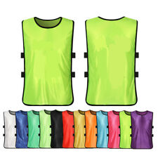 FOOTBALL TRAINING BIBS Vests Soccer Rugby Basketball Sports Netball Kids Adults