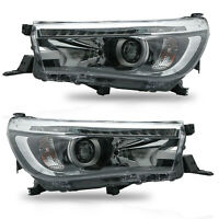 VLAND Modded LED Headlights w/ Sequential Turn Sig. for 16-19 Toyota Hilux