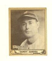 1940 Play Ball  #122 Sandy Sundra New York Yankees VG/EX no creases