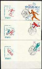 Soviet Russia 1980 set of 6 FDC covers Winter Olympics Lake Placid USA