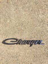 """Original Dodge Charger script emblem - metal 6 3/8"""" Long 3504807/42989"""