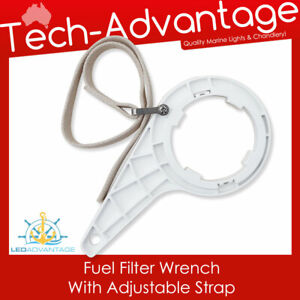 Boat Marine Water Oil Fuel Filter WRENCH With Adjustable Strap (Removal Tool)