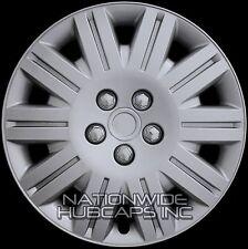 "Set of 4 New 17"" Hub Caps Wheel Covers Solid Full Tire Rim 5 Lug Bolt Matte Hubs"