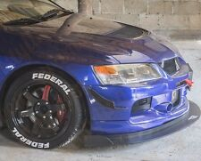 Mitsubishi Lancer Evo Front Bumper CARBON FIBRE Canards to fit most Bumpers V6
