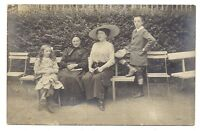 photo carte postale  enfants ,jeune fille ,garçon , famille  (1016a)