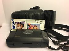 Vintage Polaroid Captiva SLR Auto Focus AF Instant Camera With Case, Bag, Manual
