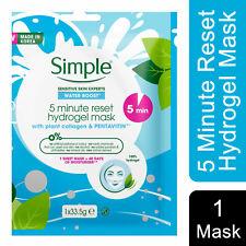 Simple Water Boost 5-Minute Reset Hydrogel Mask, 6pk