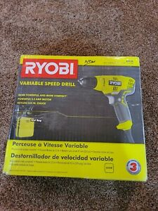 RYOBI Drill/Driver 5.5 Amp Corded 3/8 in. Variable Speed Compact with Bag