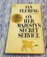 1964 ON HER MAJESTY'S SECRET SERVICE James Bond 007 Ian Fleming 1st Printing