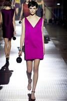 LANVIN Catwalk Spring 2013 Fuchsia Pink Embellished Dress F36 UK 8