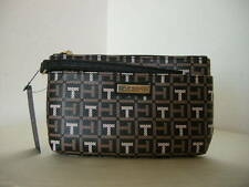Authentic Tommy Hilfiger 6937106 990 PVC Brown Multi Women's Wristlet Wallet
