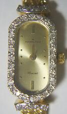 Vtg Hamilton Flaurent 14K Yellow Gold Diamond Fashion Bracelet Rope Watch 15.8g