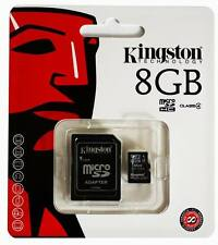 Genuine Kingston 8GB MICRO SD CARD + SD ADAPTER mobile PHONE TABLET CAMERA PDA
