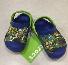 "CREATIVE CROCS KIDS~""Teenage Mutant Ninja Turtles"" Cerulean Blue Crocs~Size c4/5"