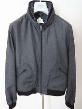 $795 ARMANI COLLEZIONI Slim Fit Spring Fall Jacket Coat Size 54 Euro 44 US Large