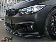 For BMW F32 F33 F36 428i 435i 14-16 3D Style Carbon Fiber Front Add-on Lip Fit