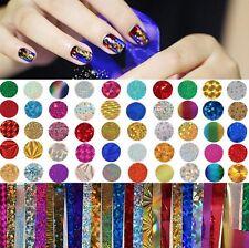 50x Transferfolie 20x4cm Nail Art Zauberfolie Nagel wassertransfer Sticker 23b