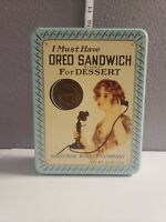 Vintage Oreo Sandwich Cookie Tin Nabisco 1986  - Replica of 1918 Advertisement